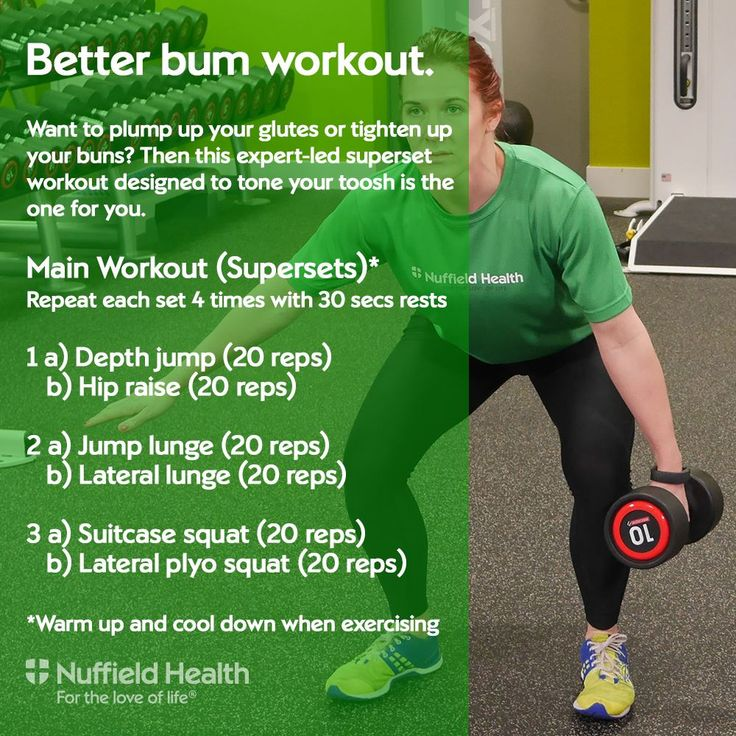 Better bum workout - ideal if you want to plump up your glutes or tighten your bum!