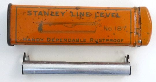 Stanley Tools vintage line level tool No 187 & by BlueJugAntiques