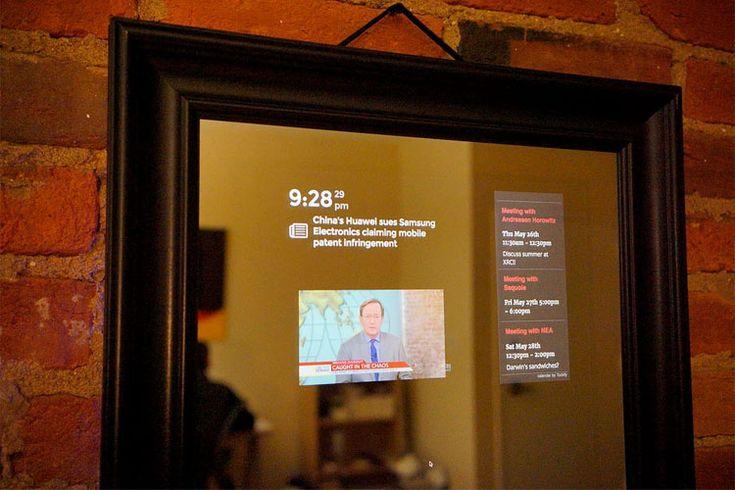 Perseus soll ab 2017 den Alltag bereichern. Nachrichten, Youtube-Tutorials und das Wetter blendet der smarte Spiegel Perseus ins Sichtfeld ein.