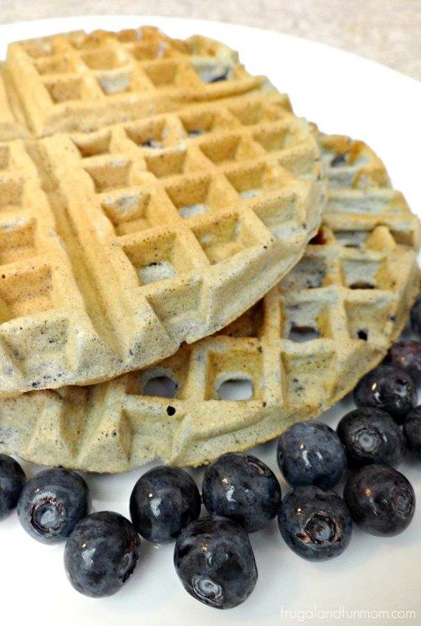 Easy Blueberry Waffles Recipe! NO SYRUP NECESSARY! :) #IC #LittleChanges #Ad