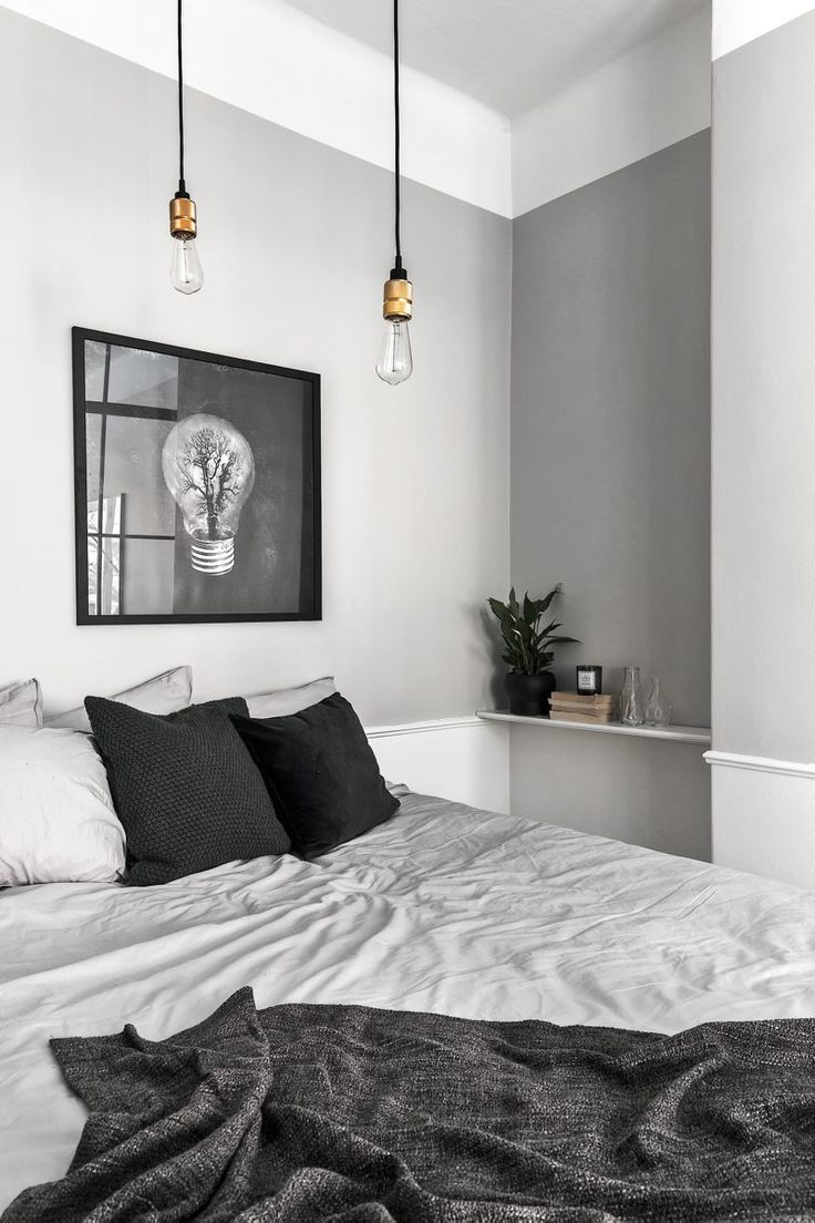 Black and white bedrooms with a splash of color - Modern Lgh Foto Adam Helbaoui_5 Black White Bedroomsgrey