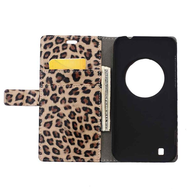 Brand Original Fundas Sexy Leopard Leather Case for Asus Zoom ZX550 Handmade Phone Accessories for Girls Women For Zoom ZX550 #Affiliate