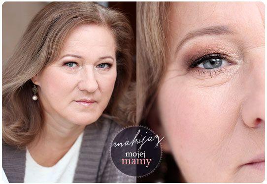 Alina Rose Makeup Blog: Makijaż dzienny mojej mamy, opadające powieki:)