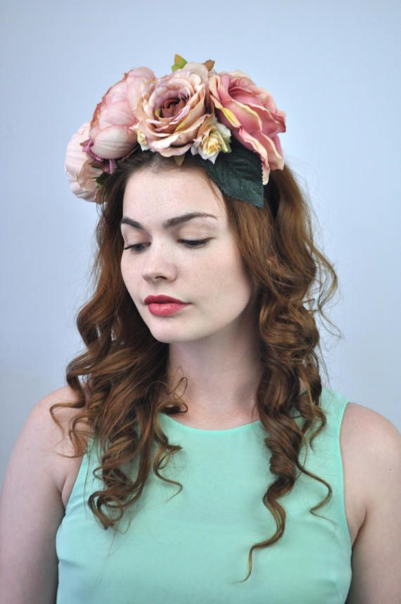Eva Blush Braut Krone Erröten Blumenkopfschmuck Blume