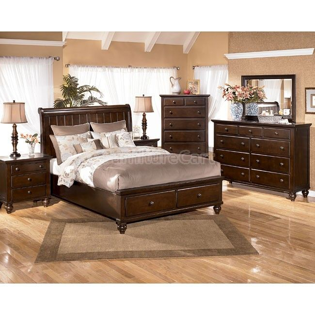 Camdyn, Camdyn King Sleigh Storage Bedroom Set, Dining Room Table Sets,  Bedroom Furniture, Curio Cabinets and Solid Wood Furniture - Model - Home  Gallery ...