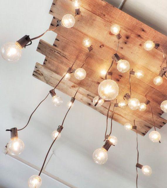 Un lampadario davvero originale #chandelier #diy #home