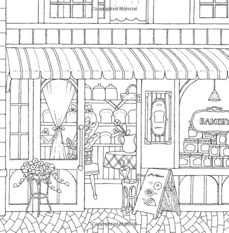 around town coloring pages - photo#26