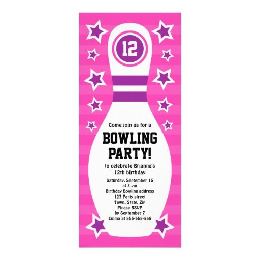 17 Best images about Partyu0027s on Pinterest - bowling invitation template