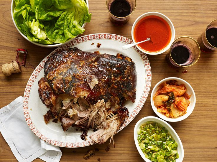 This is a recipe to win the dinner party sweepstakes, and at very low stakes: slow-roasted pork shoulder served with lettuce, rice and a raft of condiments The chef David Chang serves the dish, known by its Korean name, bo ssam, at his Momofuku restaurant in the East Village and elsewhere He shared the recipe with The Times in 2012