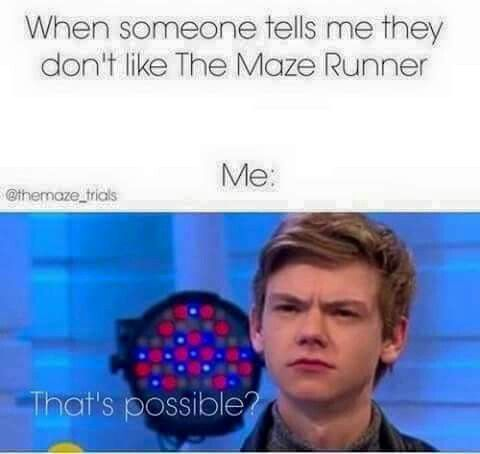 I love how Thomas Sangster is our universal Maze Runner reaction face for every Maze Runner related thing