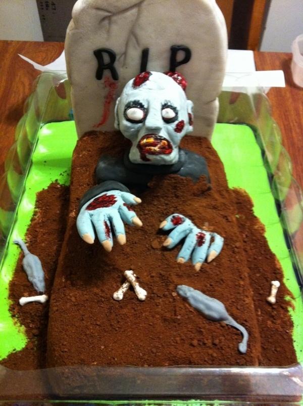 Zombie Cake   walking dead next week!