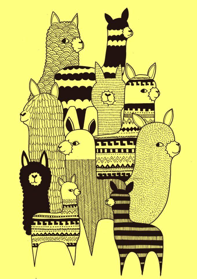 Lamas | Kate Sutton #illustration