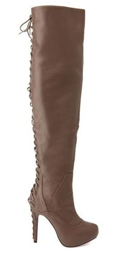 Corset back thigh-high boot from Charlotte Russe, $50, charlotterusse.com