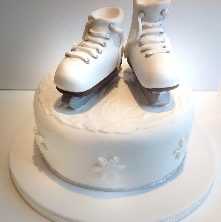 Ice Skating Birthday Cake Fancy