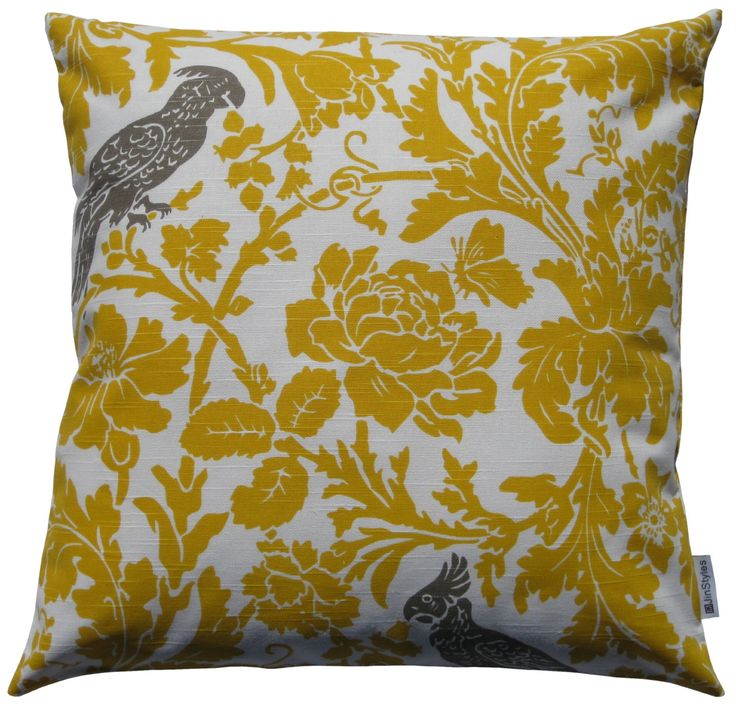 Best Throw Pillow Covers Part - 37: $18 JinStyles Cotton Canvas Parrot Accent Decorative Throw/Toss Pillow Cover  (Yellow U0026 White