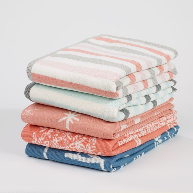 Birds Petal Graphic Knit Blanket | Incredibly comfortable and so versatile, with a lofty, sweet pattern.
