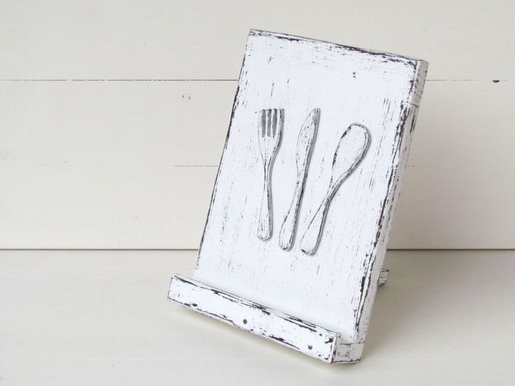 IPad Stand IPad Holder Tablet Stand Cookbook Stand Tablet Holder Recipe Holder Wooden Ipad Stand Rustic Stand Shabby Chic White Brown by gregolino on Etsy https://www.etsy.com/listing/188484621/ipad-stand-ipad-holder-tablet-stand