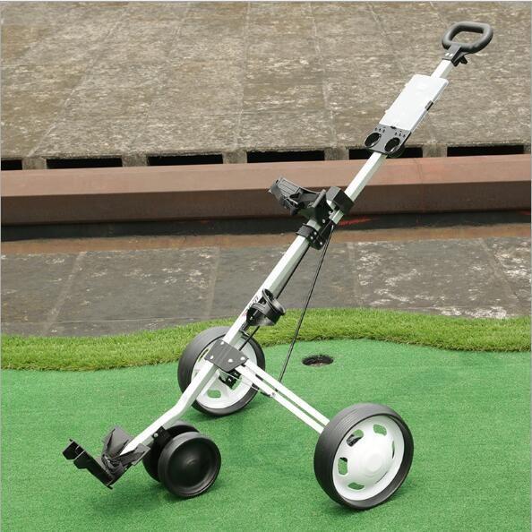 28*25*89cm Aluminum alloy Three-wheeled Golf Trolley Folding Golf cart Golf charter