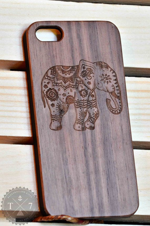 Laser engraved wood case with a perfect matte plastic fitting. Nice texture and…