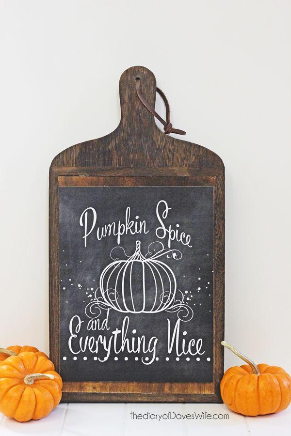 Pumpkin Spice Free Print