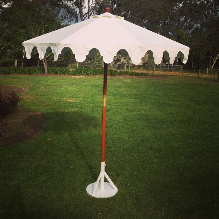 Gorgeous scalloped umbrellas. These will dress up any event! www.tentluxuryhire.com.au