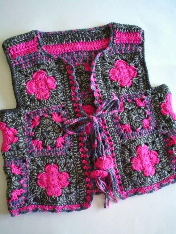 Chaleco estilo folk - Crochet - Tejidos de Punto - 6880
