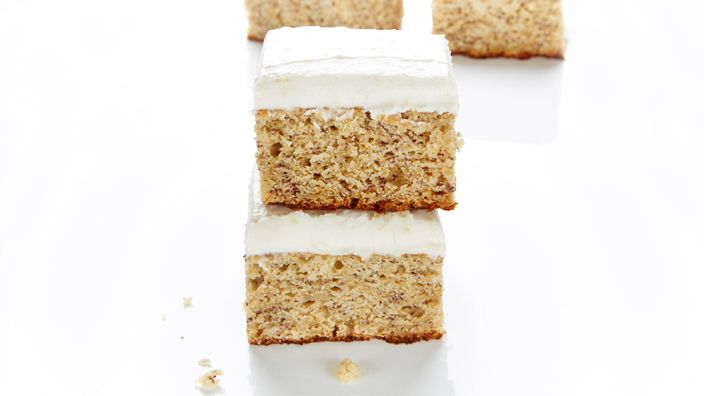 If you miss Sarah Lee's Banana Cake, this tastes just like it! You'll want to double the icing recipe because the one given barely covers the cake.