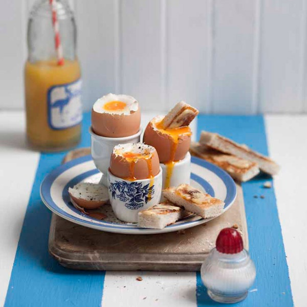 """Say """"Happy Easter"""" with boiled eggs and anchovy butter soldiers. ~Pick 'n Pay"""