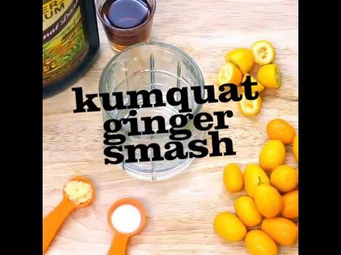 Kumquat Ginger Smash Rum Cocktail Recipe - YouTube