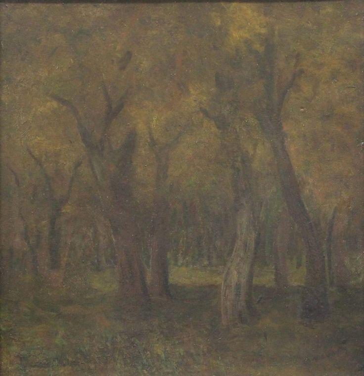 KRAJINA  MEDŇANSKÝ LADISLAV  Obdobie: koniec 19. stor.  Materiál: kartón  Technika: olej  Značenie: značené vpravo dole     #art #auction #mednansky #ladislav #museum #auctionhouse #diana