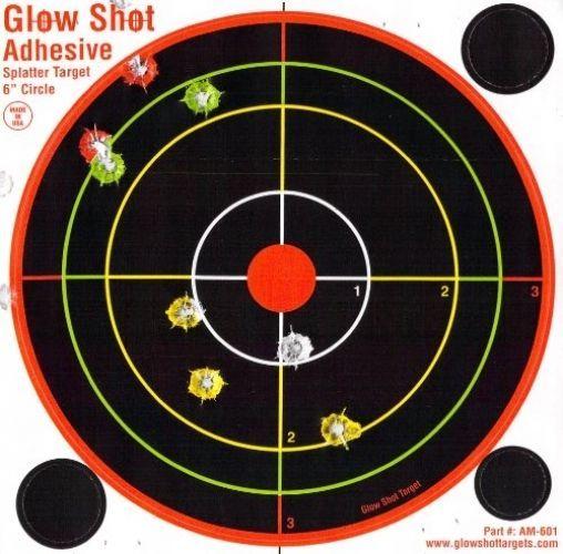 60 Pack - 6' Adhesive Multi-Color Reactive Splatter Targets - Glowshot - Gun #GlowShotTargets
