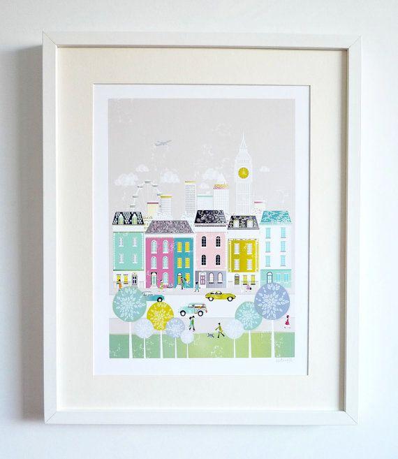 London : City Art Print / Cityscape Art Print / by lauraamiss
