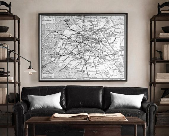 Best Restoration Hardware Style Map Prints Images On Pinterest - Restoration hardware paris map