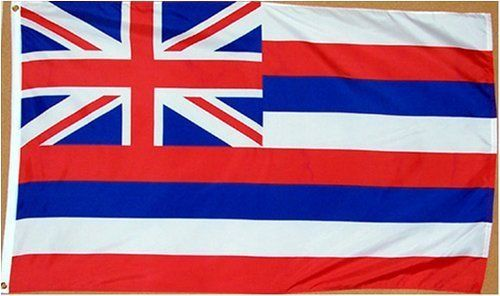 Hawaii US State Flag - 3 foot by 5 foot Polyester (NEW) by State Flag. $4.99. Express International Shipping is Global Express Mail (2-3 days). 2 Metal Grommets For Eash Mounting with Canvas Hem for long lasting strength. Express Domestic Shipping is OVERNITE 98% of the time, otherwise 2-day.. FAST SHIPPER: Ships in 1 Business Day; usually the Same Day if pmnt clears by noon CST. 3 Foot by 5 Foot, Indoor-Outdoor, Lightweight Polyester Flag with Sharp Vivd Colors. 3 foot...