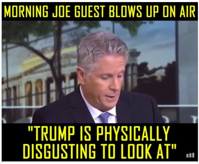 HE'S SO RIGHT!! Trump is always attacking Women's appearances as if he's anything to look at!! He's a Ugly, Out of Shape, Cotton Candy Head, Stubby Finger Puss Bag!! His face is full of Cracks, Scales, Bumps, Dents and that Gut!!! How Dare He pick at Anyone's Appearance!!