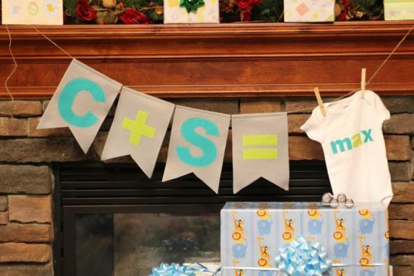 Cute onesie party banner display