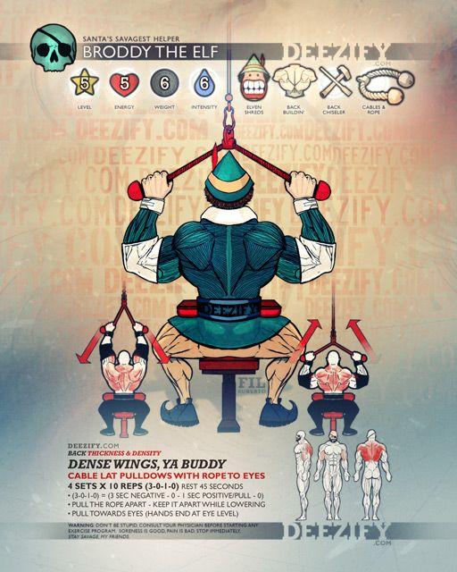 ejercicio para la espalda: jalones lat con cuerda - broddy el elfo