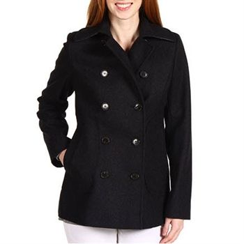 Tommy Hilfiger Women's Charcoal Pea Coat. SHOP IT NOW