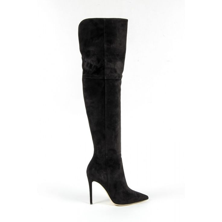 Versace 19.69 Abbigliamento Sportivo Srl Milano Italia Womens High Boot 3103075 CAMOSCIO NERO