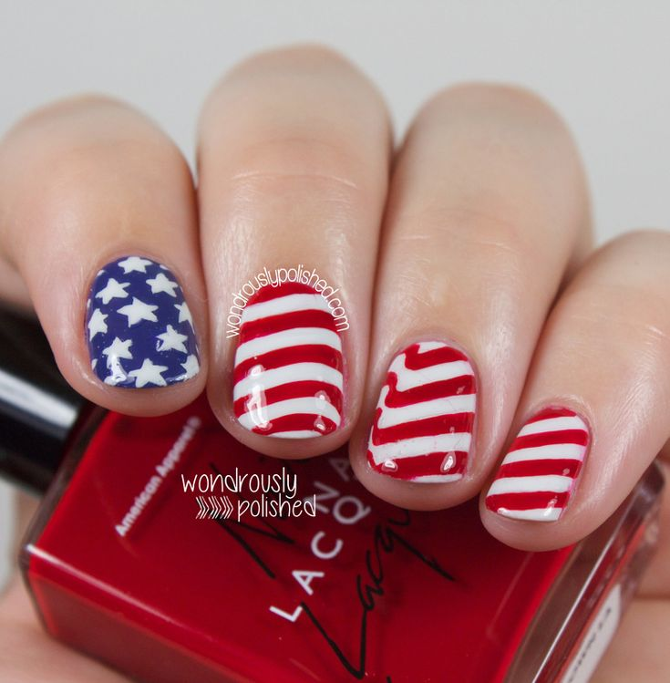 American Flag inspired Nail Art - The 25+ Best American Flag Nails Ideas On Pinterest July 4th