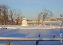 Blick auf den gefrorenen Vänern in Åmål, Schweden #bjoerklunda #schweden #varmland