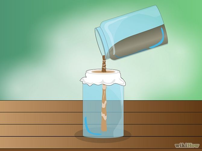Make Homemade Cat Repellent Step 3.......Pour the liquid through a fine mesh strainer lined with clean cheesecloth. Use a funnel to pour the mixture into a spray bottle.