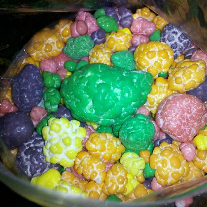 A bag of rejected Nerds candy never looked so gross.