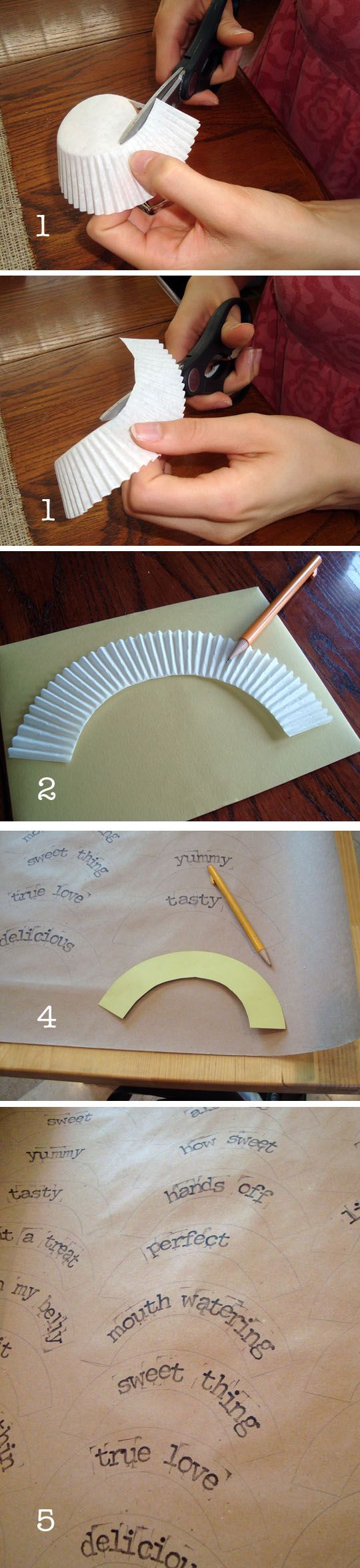 - DIY cupcake wrappers
