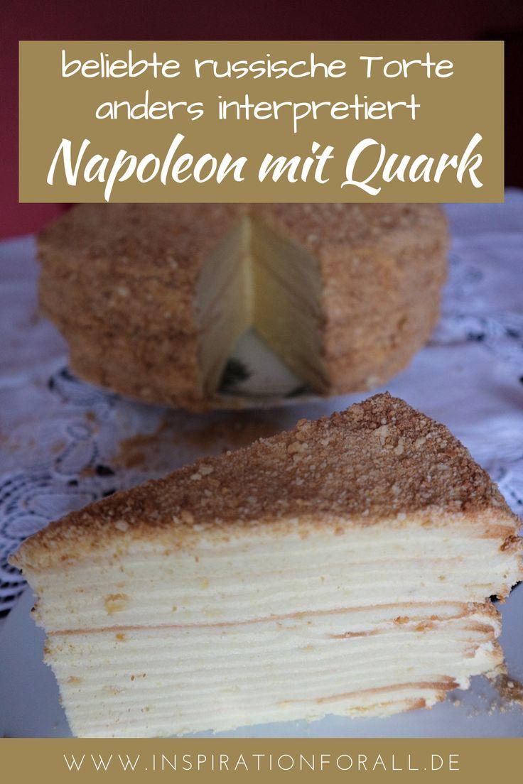 Torte Napoleon mit Quark – Rezept für beliebten Kuchen mal anders – Leckere Rezepte von inspirationforall.de – einfach, schnell, besonders
