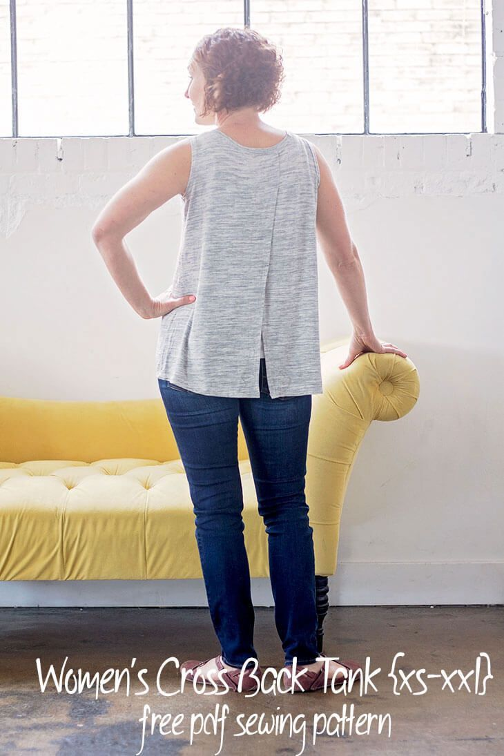 00c4b84c5bb97a Tank Top Sewing Pattern - free pdf pattern womens cross back tank in sizes  xs-