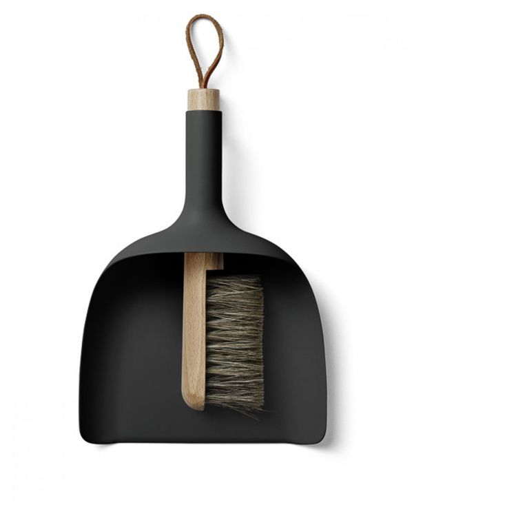 designstuff offers a range of Scandinavian designed home decor including this stunning NEW Menu Sweeper and Funnel Dustpan and Broom in black. In store now!