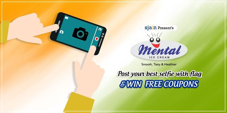 Celebrate this Republic Day with Mental and Post your best selfie with flag. Top ten contestants will win free coupons. So cross your fingers and try your luck hard. All the best!!! Post your selfies in our comments box with hashtag #FlagSelfie Presents by Sjain Ventures, In Association with Mental Ice Cream. For more details please follow the link : http://bit.ly/1K2UxCM