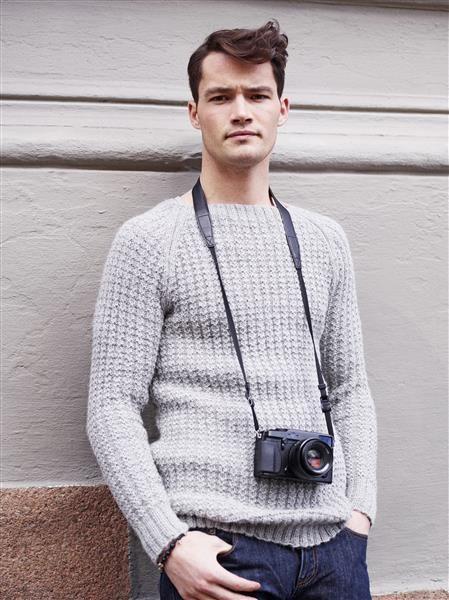 1411: Modell 9 Herregenser med raglan og struktur #alpakka #strikk #knit