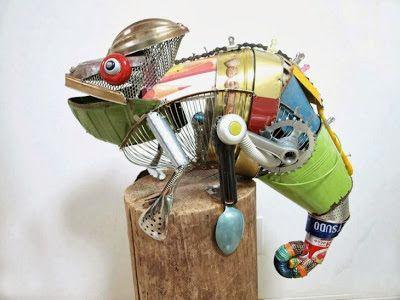 Ideas para hacer animales con material reciclado.   Quiero más diseño